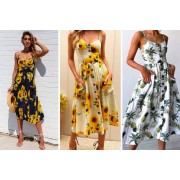 Guangzhou Zhangmafushi Co.,Ltd t/a Wish-Imports £11.99 instead of £26.99 (from Wish Imports) for a women's boho summer midi dress – choose from three stylish prints and save 56%