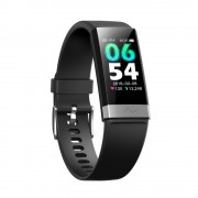 CSVO 1.14-inch Colorful Display Bluetooth Smart Watch Wristband with Sleeping/Heart Rate/Blood Pressure Monitor - Black