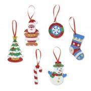 Set creatie cu sclipici Ornamente de Craciun Melissa and Doug, 5 ani+