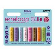 Eneloop 8db színes 2000 mAh ceruza akkumulátor