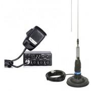 Kit Statie radio CB Midland M Zero Plus + Antena Midland ML145 cu magnet (Negru)