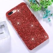 Para IPhone 8 Plus Y 7 Más Coloridas Lentejuelas Pegar Volver Funda Protectora (rojo)