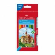 Creioane colorate 12 culori Faber Castell + creion grafit triunghiular Grip 2001 115850