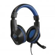 HEADPHONES, TRUST GXT404B Rana, Gaming, Microphone, Black/Blue (23309)