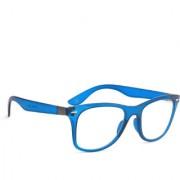 Royal Son Full Rim Retro Square Blue Spectacle Frame For Men and Women (Plastic Optical Eyeglasses Eyewear Frame)