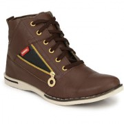NYN Men's Brown Synthetic Casual Boots