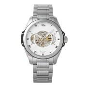 【75%OFF】Henley スケルトン ステンレスベルト ウォッチ シルバー ファッション > 腕時計~~メンズ 腕時計