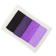 Magideal 4 Shade Colors Ink Pad Fingerprint Korea DIY Craft Embossing Colorful Purple