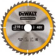 Dewalt DT1953 Construction Cirkelzaagblad - 216 x 30 x 40T - Hout (Met nagels)