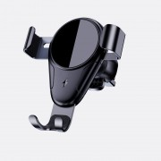 ESSAGER Cell Phone Car Charger 10W Qi Fast Charging Car Charger Mount Compatible with 4'' - 6.5'' Cell Phones - Black