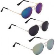 Phenomenal Oval Sunglasses(Blue, Black, Green)