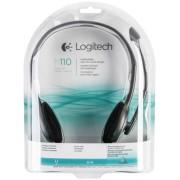 Logitech H 110 Stereo Headset silver retail