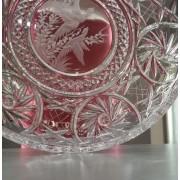 Talerz kryształowy z motywem myśliwskim - Victoria