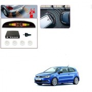 Auto Addict Car White Reverse Parking Sensor With LED Display For Volkswagen Polo GT