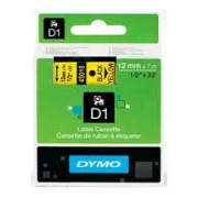 Genuine Dymo SD45018 / D1 Label Cassette 12mmx7m Black on Yellow