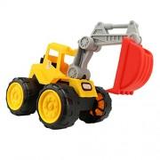 Generic Push Around Sand Truck Model Beach Toy for Kids-Excavator