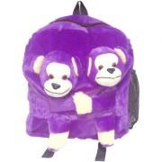 Ultra Twins Monkey School Bag 14 Inches - Purple