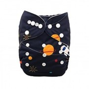 Tinytots Bamboo All In One Reusable Washable One Size Cloth Diaper - Astronaut