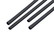 Tub termocontractant 10mm/1m negru set 10 buc