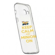 Husa de protectie Minion Keep Calm Samsung Galaxy J4 Plus 2018 rez. la uzura anti-alunecare Silicon 209