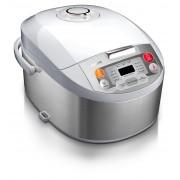 Multicooker Philips HD3037/70, 980 W, 5 l, Timer, Alb/Argintiu