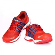 Blue Pop Men Red Lace-up Training Shoes