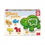 Educa Állatkás bébi puzzle, 5 az 1-ben