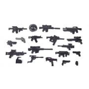 BricksStuff Brickarms Modern Combat Tactical Weaponpack, Custom Guns for Lego Minifgures
