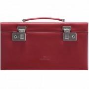 Windrose Merino Charmbox Caja para joyas joyero 30 cm Rot