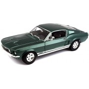 Maisto 1:18 Scale 1967 Ford Mustang GTA Fastback Diecast Vehicle (Colors May Vary)