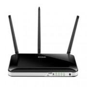 Рутер D-Link DWR-953, 4G, 750Mbps, 2.4GHz(300 Mbps)/5GHz(433 Mbps), Wireless AC, 4x LAN 100, 1x WAN 1000, 1x SIM card, 2x външни антени