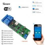 2 kanálový inteligentný WiFi switch 7-32V DC/AC