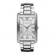 Emporio Armani Classic Rectangle Shape Silver Tone AR1607 Mens Watch
