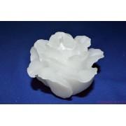 VIRÁGOS Esküvői Fehér gyertya 5,5 cm