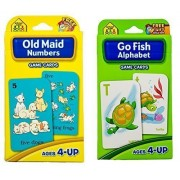 Easter Gift - Preschool Card Games Gift Bundle - 2 Items: One Set of Go Fish Alphabet Game Cards and One Set of Old Maid Numbers Game Cards