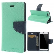 Mercury Pouzdro / kryt pro Apple iPhone 6 / 6S - Mercury, Fancy Diary Mint/Navy
