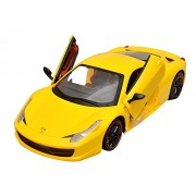 Electrobot Ferrari 458 Italia Super car R/C Car with Fully Function Doors, LED Lights (Yellow)