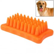 Pet Dog Cat Grooming Bath Massage Brush Comb (Orange)
