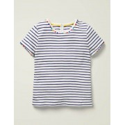 Mini Indigoblau/Naturweiß Mini Me Charlie Jersey-T-Shirt Damen Boden, 140 (9-10J), Blue