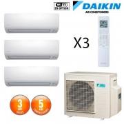 Daikin Tri-split Réversible 3MXS52E + 2 CTXS15K + 1 FTXS25K