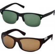 Freny Exim Sports, Clubmaster Sunglasses(Green, Yellow)