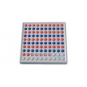 Schubi ABACO 100, rot / blau, Reihen