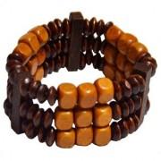 Men Style Handmade Multicolor Wood Bracelet For Men And Women