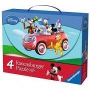 Детски Пъзел - 4 в 1 промо, Mickey Mouse Club House, Ravensburger, 706653