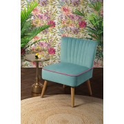 My-Furniture LOLA Retro Sessel, Austern-Design Aqua