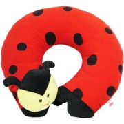Ultra Beetle Travel Neck Cushion Pillow - Red 14 Inches