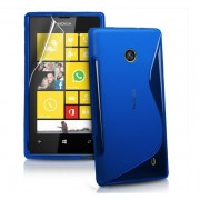 Силиконов гръб ТПУ S-Line за Nokia Lumia 625 Син