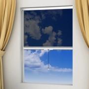 vidaXL Biela rolovacia sieťka na okno 100 x 170 cm