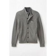 ランズエンド LANDS' END メンズ・ツイーディ・ニット・ジャケット(マイカヘザー)
