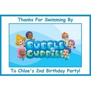 12 Bubble Guppies PERSONALIZED Stickers